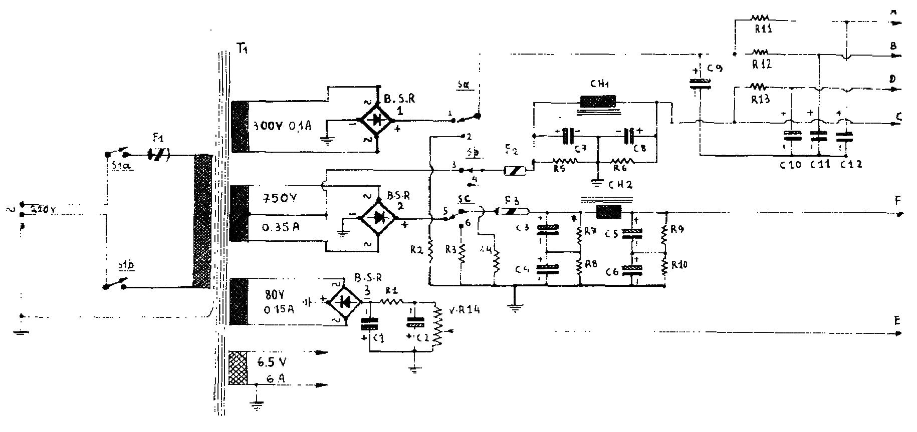 Rf Transmitters 255w Valve Transmitter Circuit L60699 Oscillator Circuits Nextgr The Power Supply