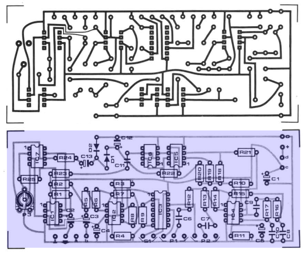 Audio Musical Circuits Sub Harmonic Bass Converter For Electric Function Generator Circuit Diagram Besides On Ca3080 Guitar To Pcb And Parts
