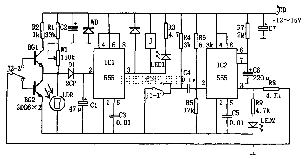 555 high performance photovoltaic street a control circuit diagram - schematic