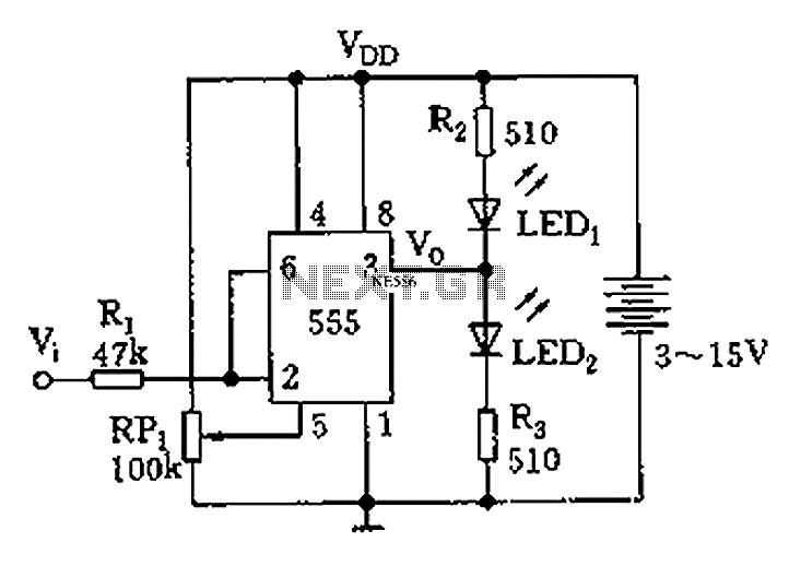 555 logic test circuit diagram pen - schematic