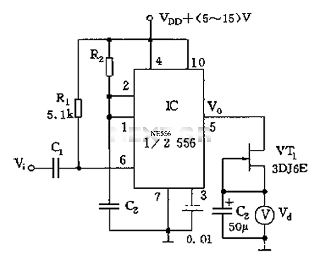 other circuits u003e 555 lm555 ne555 timer circuits u003e 555 tachometer rh next gr tachometer circuit diagram pdf optical tachometer circuit diagram