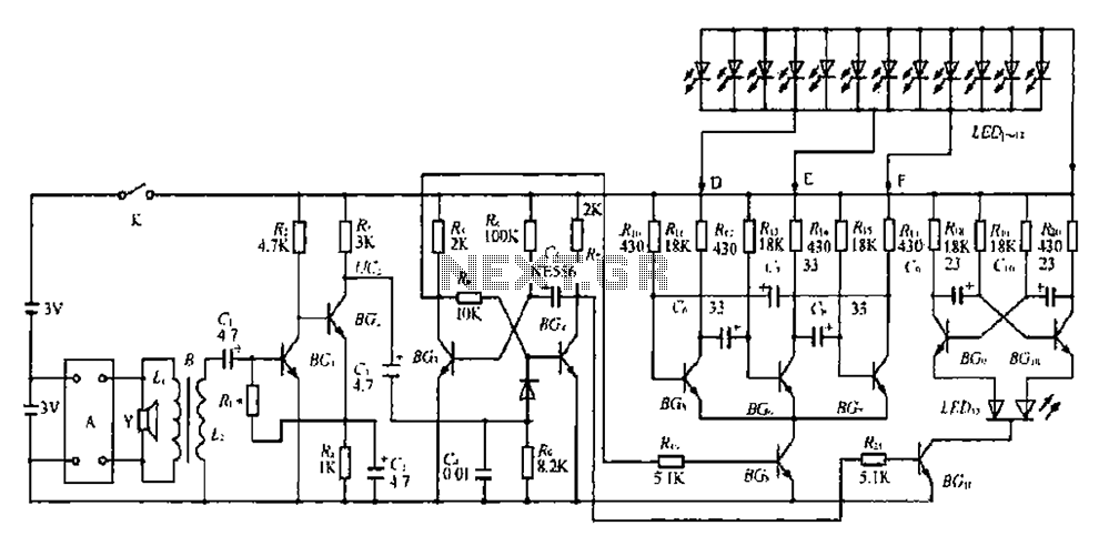 A decorative quartz voice packet clock circuit - schematic