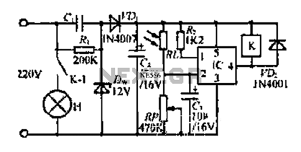 A long light power control circuit - schematic