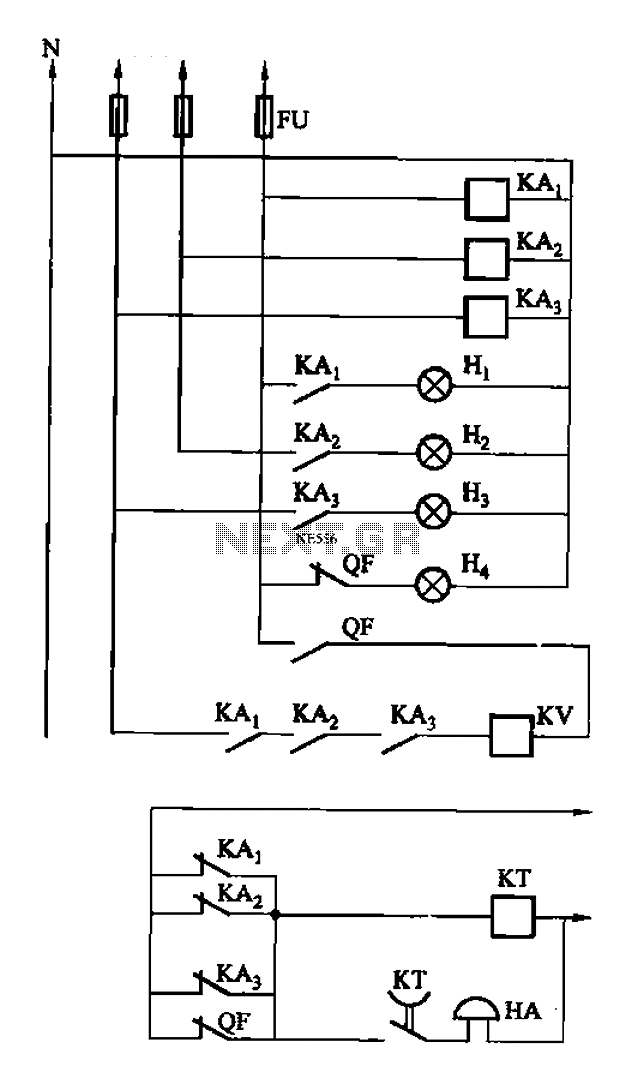 A three-alarm phase circuits - schematic