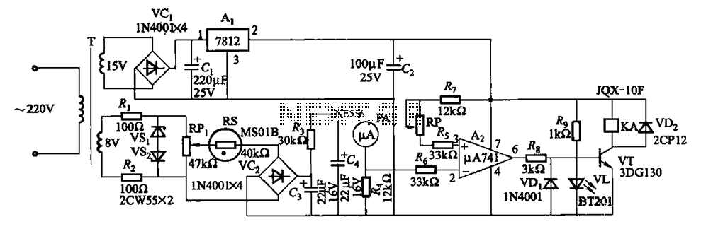 Air humidity measuring circuit 2 - schematic