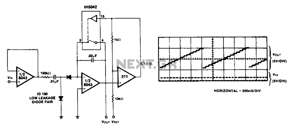 Analog counter circuit diagram - schematic