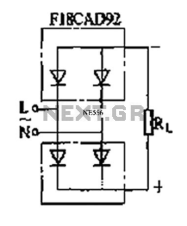 Arms single-phase rectifier bridge rectifier circuit - schematic