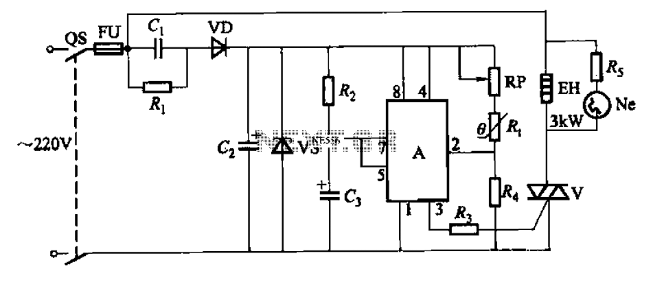Automatic temperature control circuit - schematic