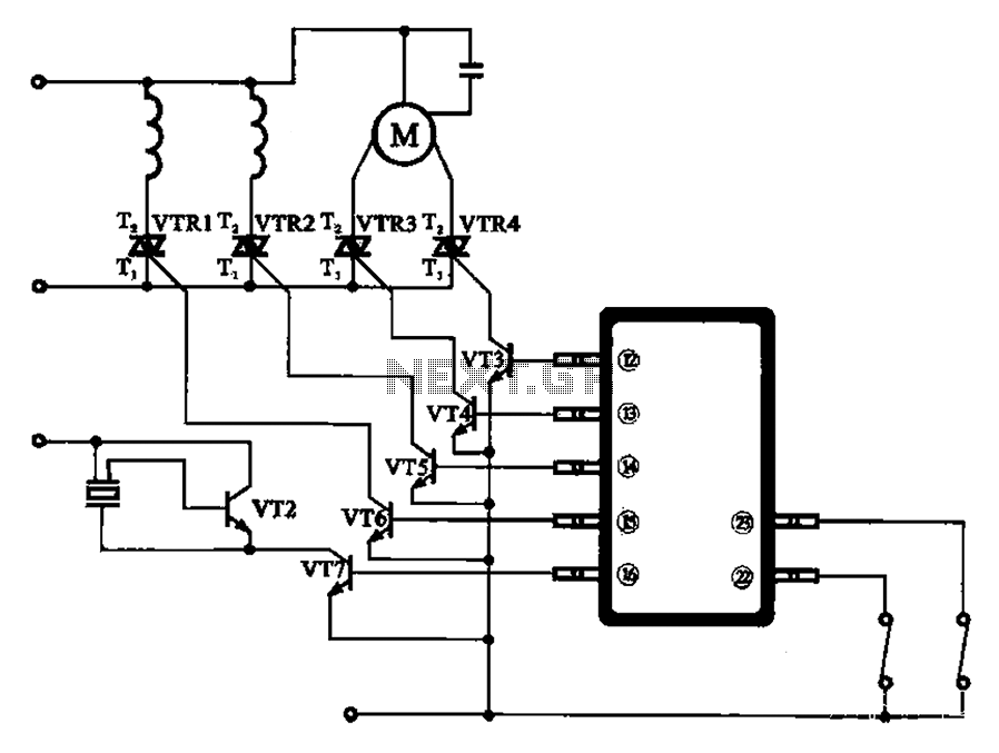Automatic washing machine motor driver schematic - schematic