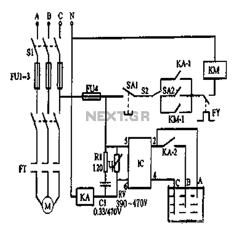 Automatic water tank circuit diagram - schematic