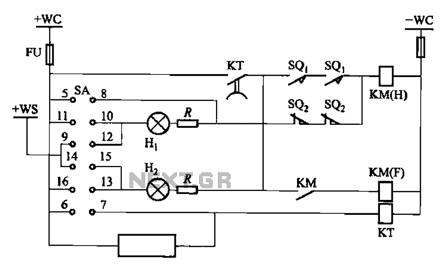 BT9404 type excitation switch control circuit - schematic