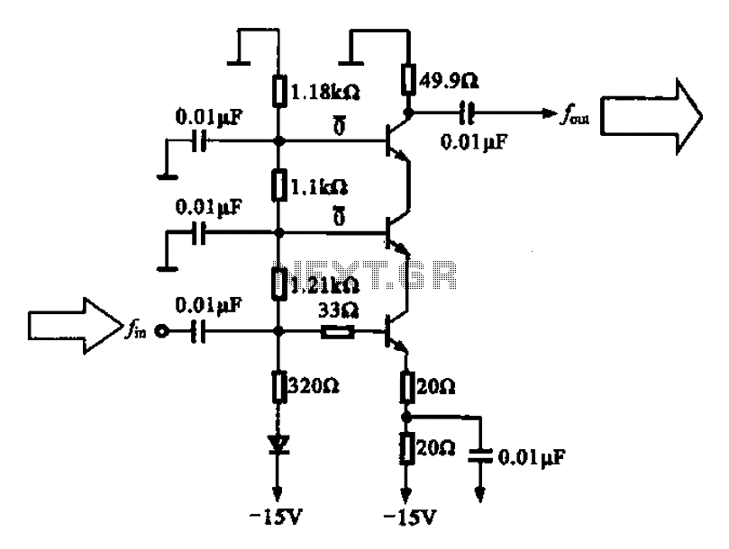 Back radiation small buffer amplifier - schematic