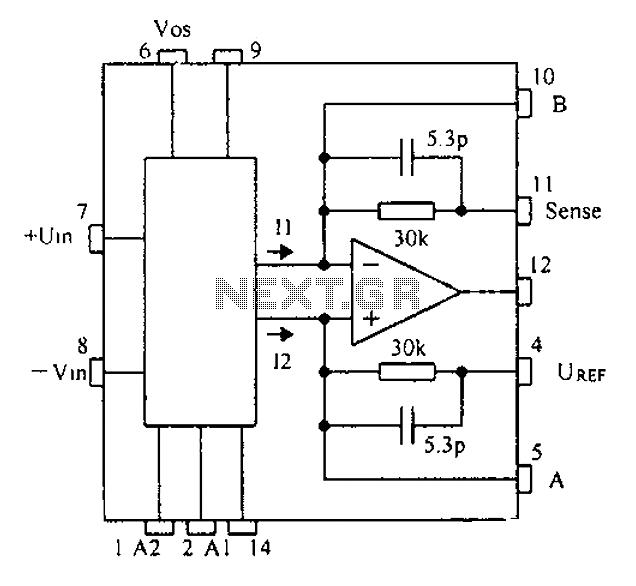 Based CNC programming gain instrumentation amplifier PGA202 203 schematic - schematic