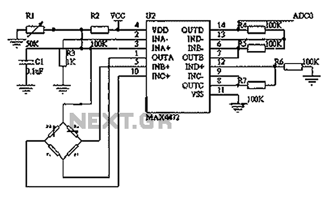 Blood pressure sensing circuit diagram BP01-type pressure sensor - schematic
