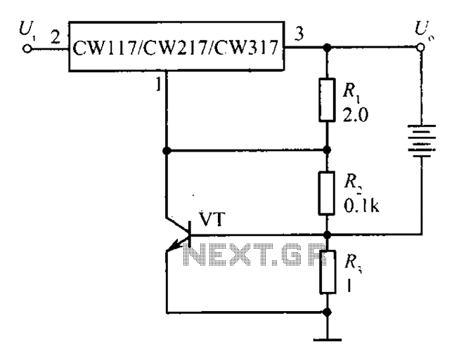 CW117 CW217 CW317 charger has a current-limiting protection configuration - schematic