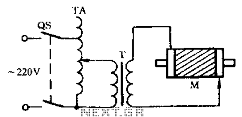 Check the three-phase motor with broken bars - schematic