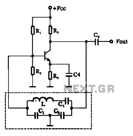 Clapp oscillator - schematic