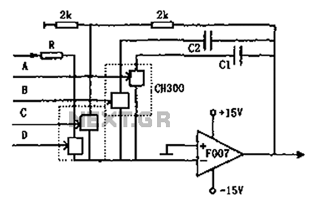 Controllable integrator F007 schematic - schematic