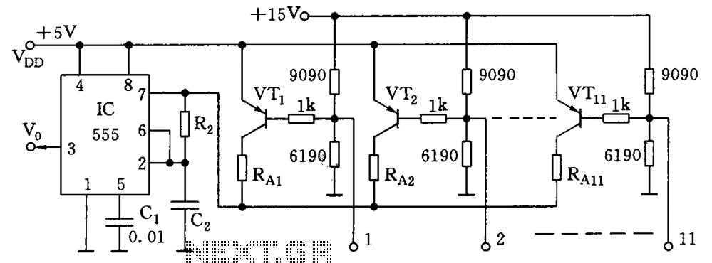 Data control variable frequency oscillator - schematic