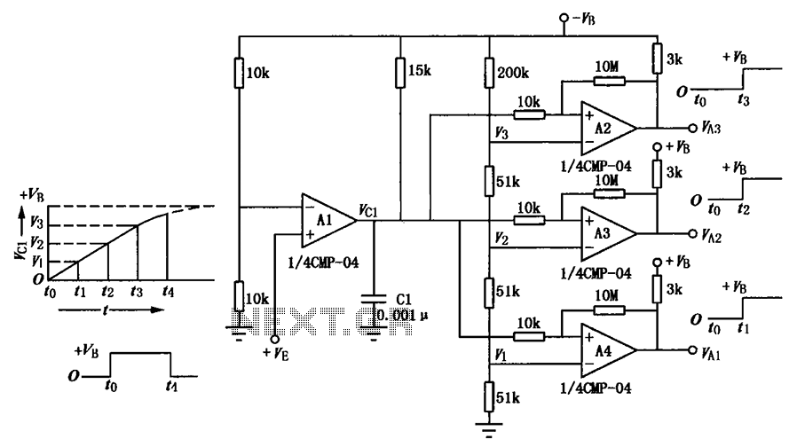 Delay circuit of a multi-level output - schematic