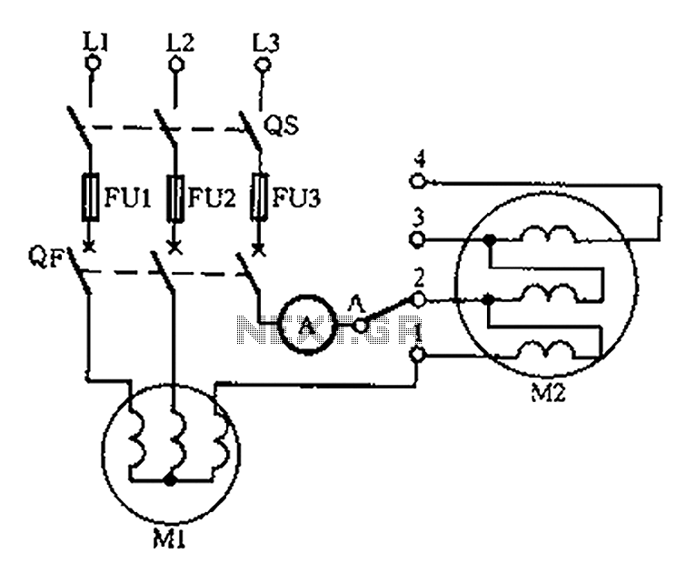 Drying the motor winding circuit current imbalance - schematic