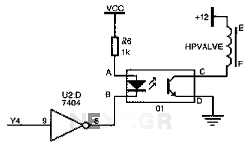 High pressure natural gas shutoff valve drive circuit diagram - schematic