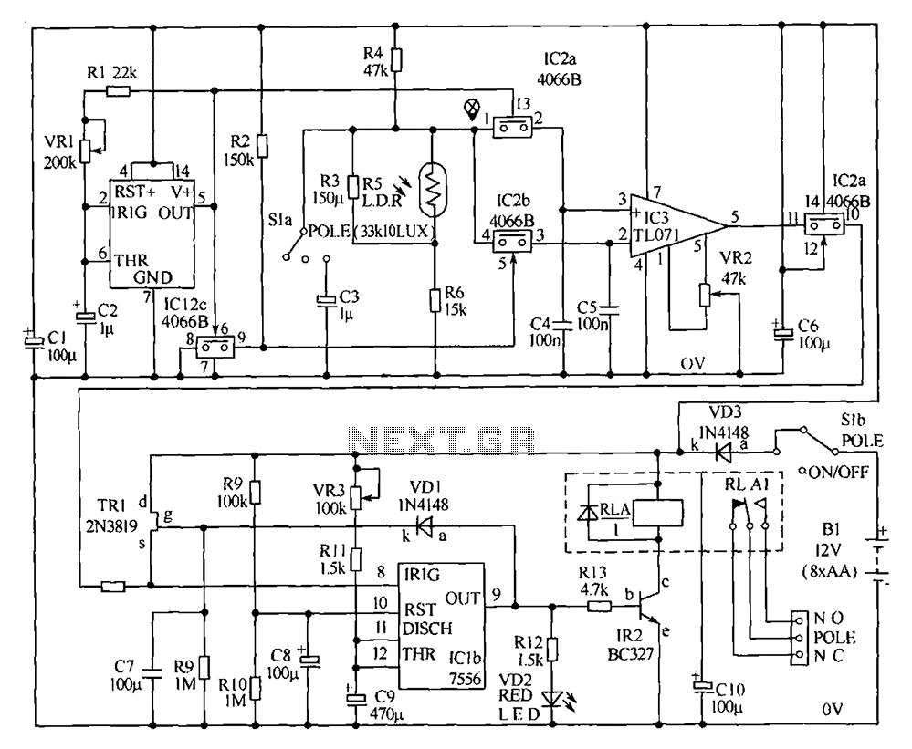 High sensitivity alarm - schematic