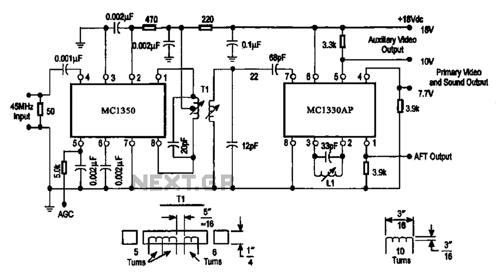 IF processing - video detector circuit - schematic