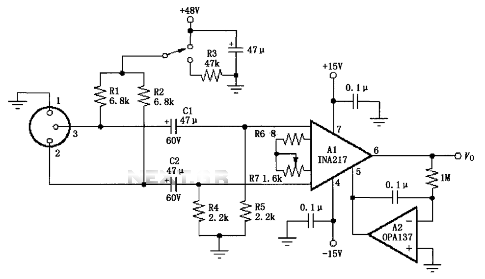 microphone circuit audio circuits next gr rh next gr Bass Preamp Schematic Tube Microphone Preamplifier Schematic