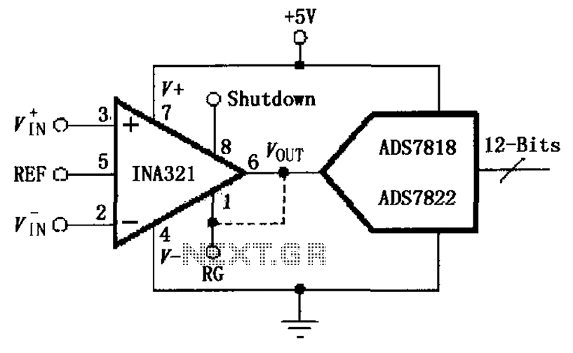 INA321 322 a direct drive capacitive input of the A D converter Figure - schematic