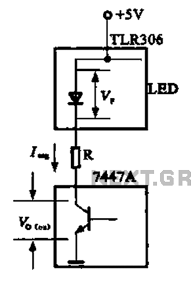 LED display driver circuit a - schematic