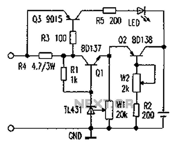 Lithium battery charging constant current circuit diagram - schematic