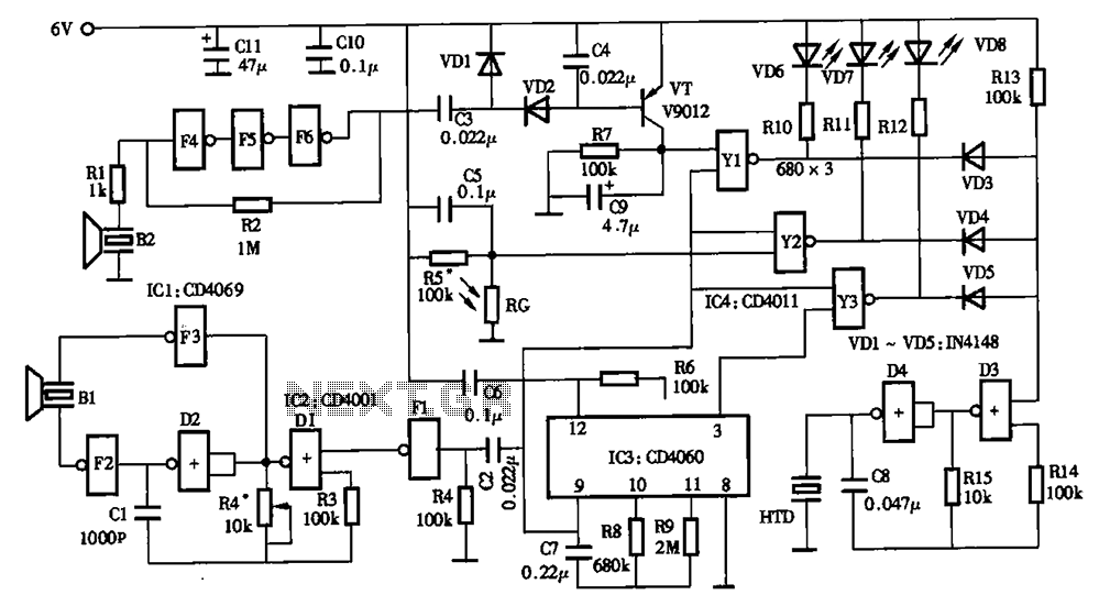 Low power timer switch - schematic