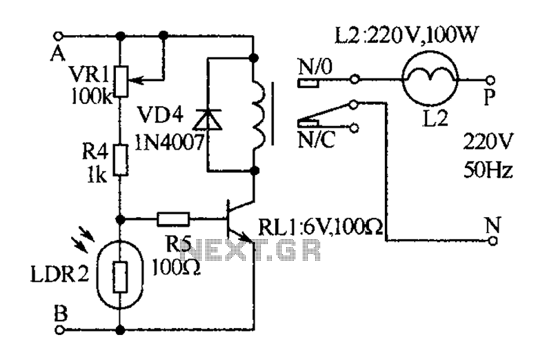 Medical call with lighting signal receiver circuit diagram - schematic