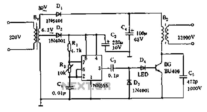 neon high voltage power supply circuit diagram high voltage rh next gr