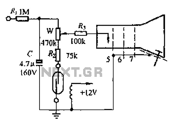 Off TV with reed elimination circuit diagram highlights - schematic