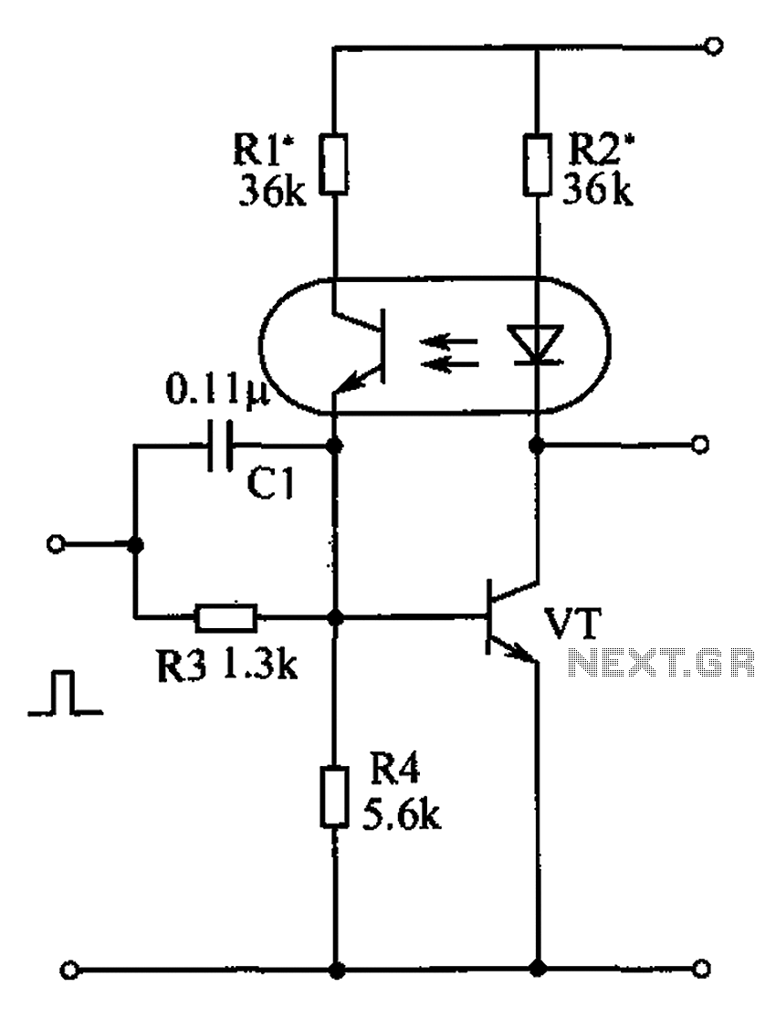 Optocouplers and transistors of the bistable circuit diagram - schematic