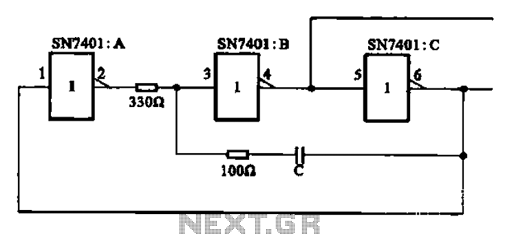 RC clock signal generating circuit - schematic