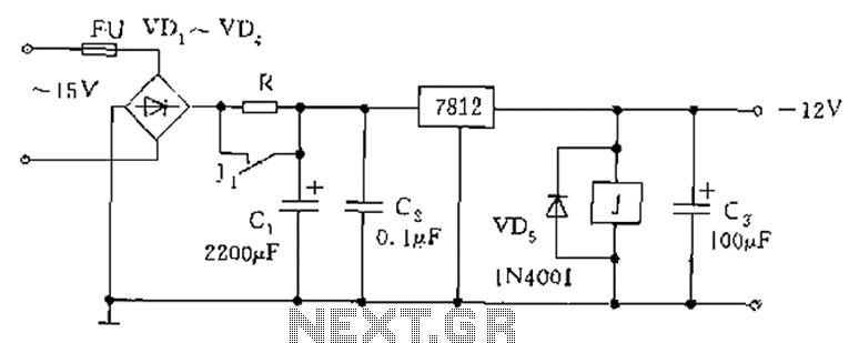 Relay type starting circuit diagram - schematic