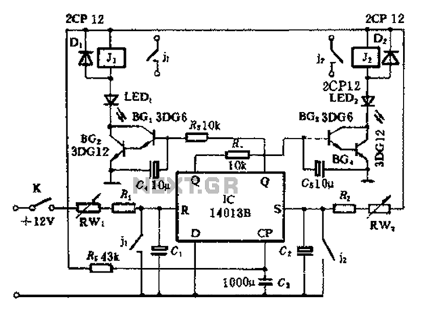 Sequential timing control circuit diagram - schematic