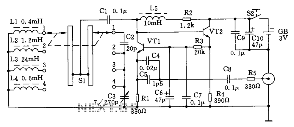 Simple high-frequency signal generator circuit diagram - schematic
