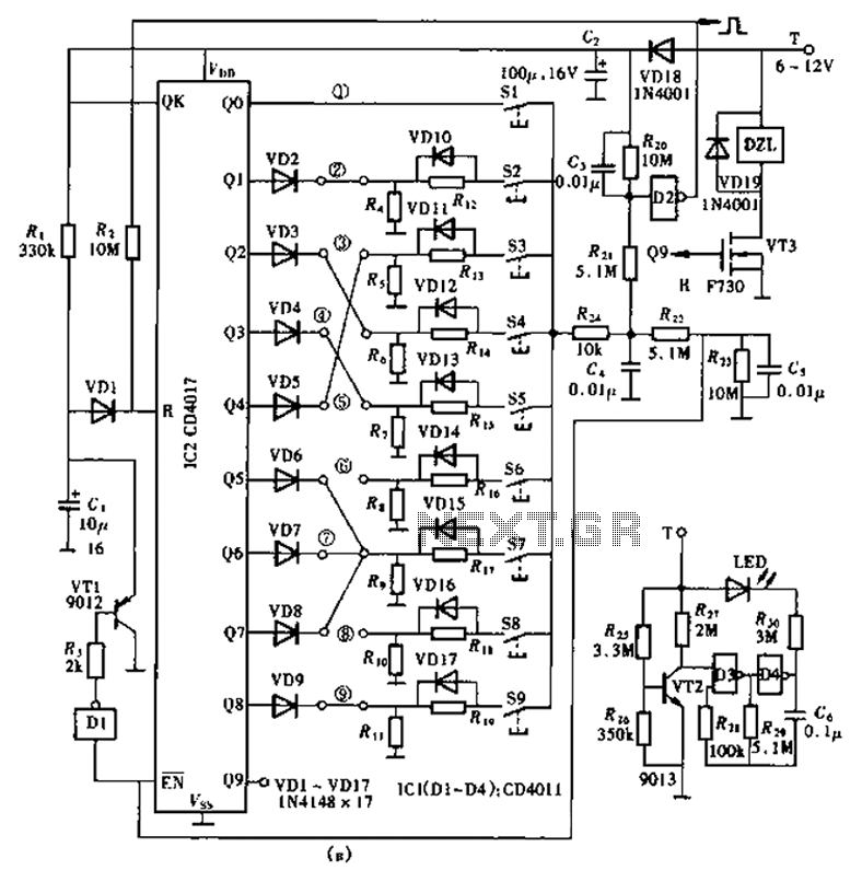 Super lock circuit diagram - schematic