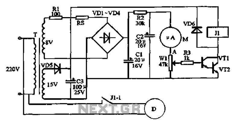 Temperature controller circuit - schematic