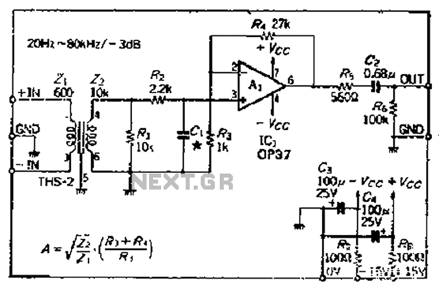 The Balanced Input Amplifier Circuit Diagram Of 600 Microphone Is As