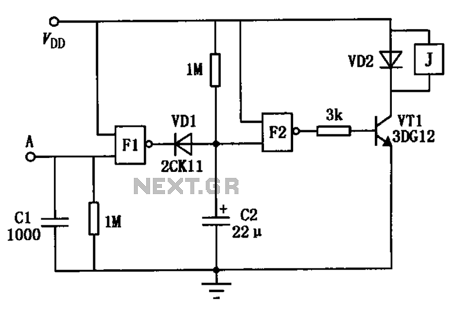 touch delay switch a circuit diagram of a nand gate consisting