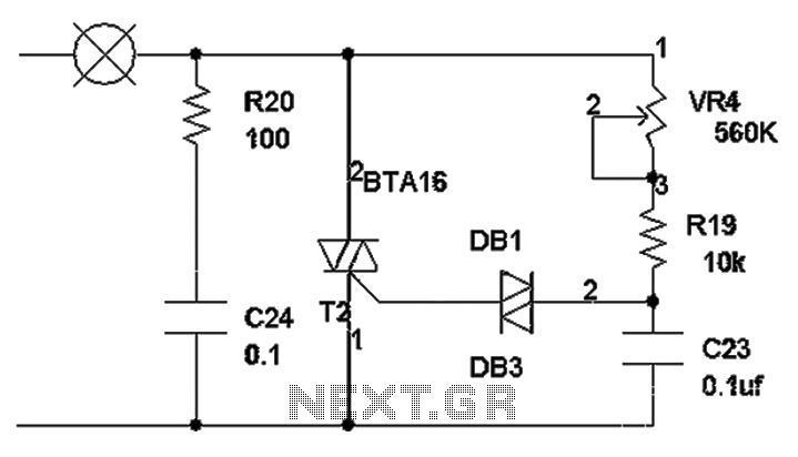 Triac dimming circuit diagram - schematic