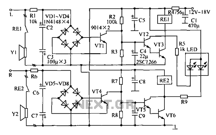 two channel speaker protection schematic security circuits next gr rh next gr