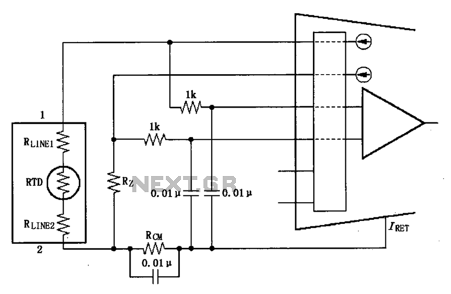 Two wire RTD connection circuit diagram XTR108 other circuits \u003e two wire rtd connection circuit diagram xtr108 6 wire rtd connection diagram at arjmand.co