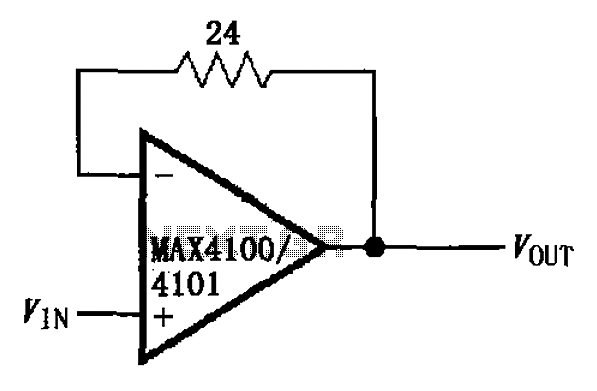 Units from the MAX4100 4101 gain buffer circuit diagram - schematic