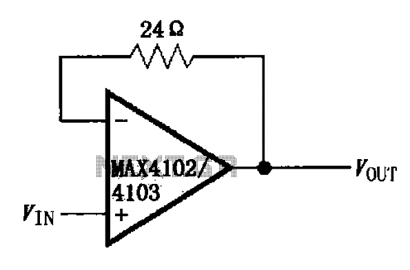 Unity gain buffer circuit diagram of the MAX4102 4103 - schematic